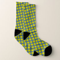 Yellow Flower Ribbon by Kenneth Yoncich Socks