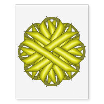 Yellow Flower Ribbon by Kenneth Yoncich Temporary Tattoos