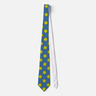 Yellow Flower Ribbon by Kenneth Yoncich Tie