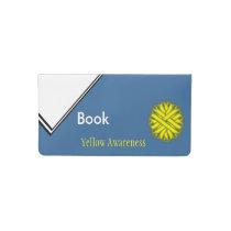 Yellow Flower Ribbon Checkbook Cover