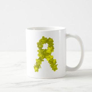 Yellow Flower Ribbon Coffee Mug