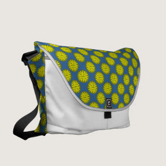 Yellow Flower Ribbon Courier Bag