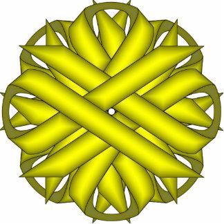 Yellow Flower Ribbon Cutout