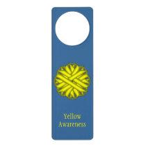 Yellow Flower Ribbon Door Hanger