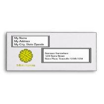 Yellow Flower Ribbon Envelope