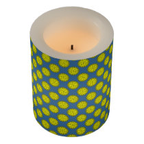Yellow Flower Ribbon Flameless Candle