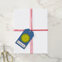 Yellow Flower Ribbon Gift Tags