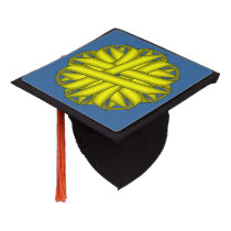 Yellow Flower Ribbon Graduation Cap Topper