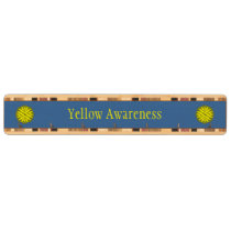 Yellow Flower Ribbon Key Rack