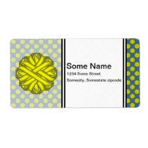 Yellow Flower Ribbon Label