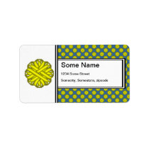 Yellow Flower Ribbon Label