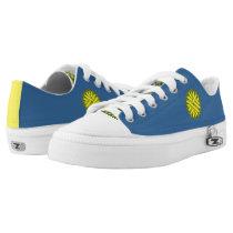 Yellow Flower Ribbon Low-Top Sneakers