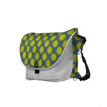 Yellow Flower Ribbon Messenger Bag