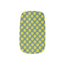 Yellow Flower Ribbon Minx Nail Wraps