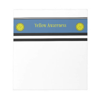 Yellow Flower Ribbon Notepad