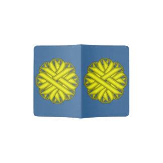Yellow Flower Ribbon Passport Holder