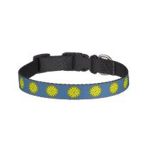 Yellow Flower Ribbon Pet Collar