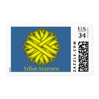 Yellow Flower Ribbon Postage