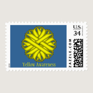 Yellow Flower Ribbon Postage