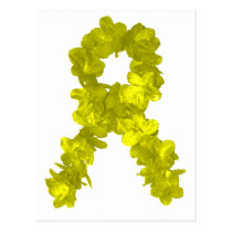 Yellow Flower Ribbon Postcard