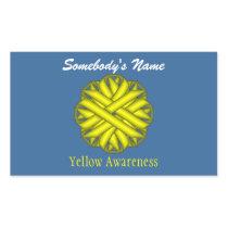 Yellow Flower Ribbon Rectangular Sticker