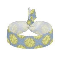 Yellow Flower Ribbon Ribbon Hair Tie