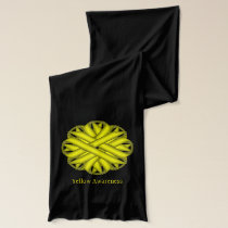 Yellow Flower Ribbon Scarf