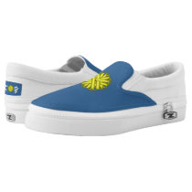 Yellow Flower Ribbon Slip-On Sneakers