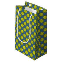 Yellow Flower Ribbon Small Gift Bag