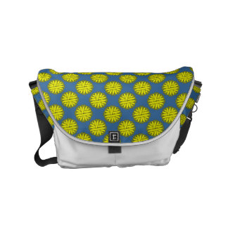 Yellow Flower Ribbon Small Messenger Bag
