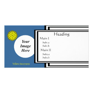 Yellow Flower Ribbon Template