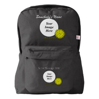 Yellow Flower Ribbon Template American Apparel™ Backpack