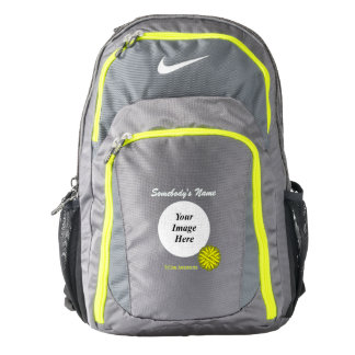 Yellow Flower Ribbon Template Backpack
