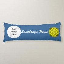 Yellow Flower Ribbon Template Body Pillow