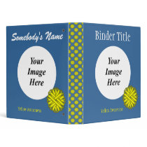 Yellow Flower Ribbon Template by Kenneth Yoncich 3 Ring Binder