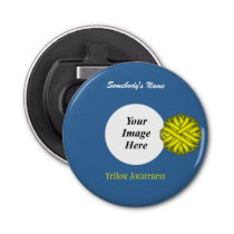 Yellow Flower Ribbon Template by Kenneth Yoncich Bottle Opener