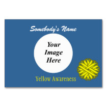 Yellow Flower Ribbon Template by Kenneth Yoncich Card