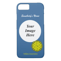 Yellow Flower Ribbon Template by Kenneth Yoncich iPhone 8/7 Case