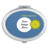 Yellow Flower Ribbon Template by Kenneth Yoncich Compact Mirror