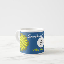 Yellow Flower Ribbon Template by Kenneth Yoncich Espresso Cup