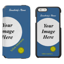 Yellow Flower Ribbon Template by Kenneth Yoncich iPhone 6/6s Wallet Case