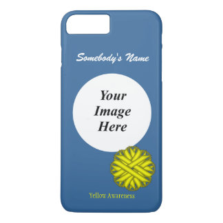 Yellow Flower Ribbon Template by Kenneth Yoncich iPhone 8 Plus/7 Plus Case