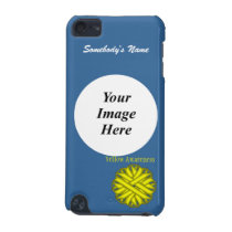 Yellow Flower Ribbon Template by Kenneth Yoncich iPod Touch (5th Generation) Case