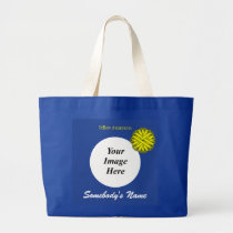 Yellow Flower Ribbon Template by Kenneth Yoncich Large Tote Bag