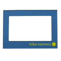 Yellow Flower Ribbon Template by Kenneth Yoncich Magnetic Frame