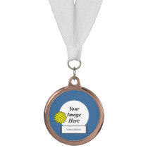Yellow Flower Ribbon Template by Kenneth Yoncich Medal