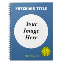 Yellow Flower Ribbon Template by Kenneth Yoncich Notebook