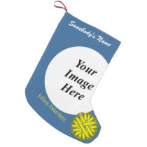 Yellow Flower Ribbon Template by Kenneth Yoncich Small Christmas Stocking