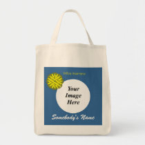 Yellow Flower Ribbon Template by Kenneth Yoncich Tote Bag