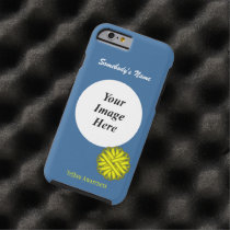 Yellow Flower Ribbon Template by Kenneth Yoncich Tough iPhone 6 Case